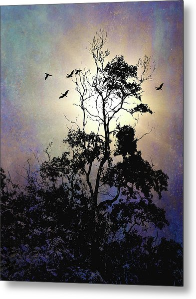 Herons At Dusk Metal Print