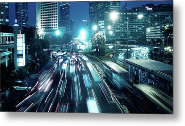 Hi Roundabout Metal Print by Onny Carr