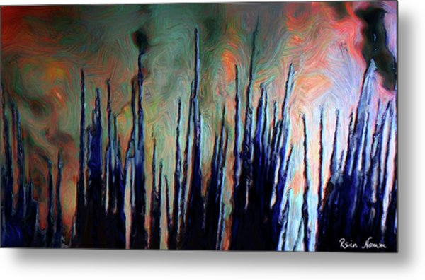 Metal Print featuring the digital art Hiding In The Tall Grass by Rein Nomm