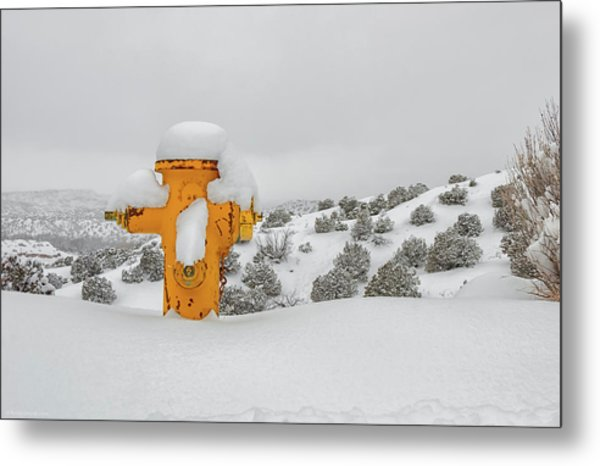 High Desert Hydrant Metal Print