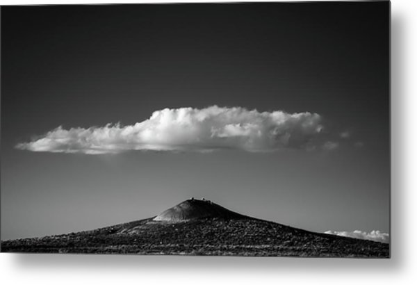 Hill And Cloud Metal Print