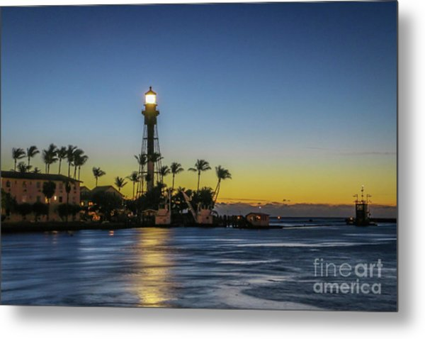 Metal Print featuring the photograph Hillsboro Light Reflection by Tom Claud