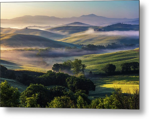 Hilly Tuscany Valley Metal Print
