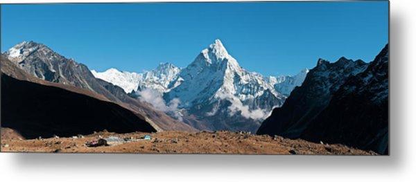 Himalaya Snow Summits Remote Mountain Metal Print by Fotovoyager