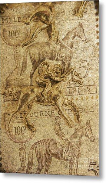 Historic Horse Racing Metal Print