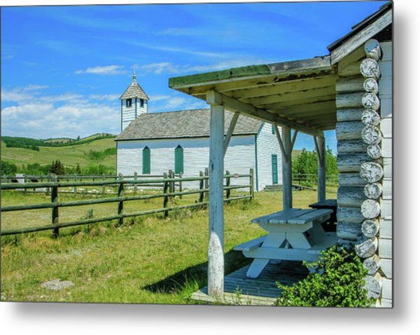 Historic Mcdougall Church, Morley, Alberta, Canada Metal Print