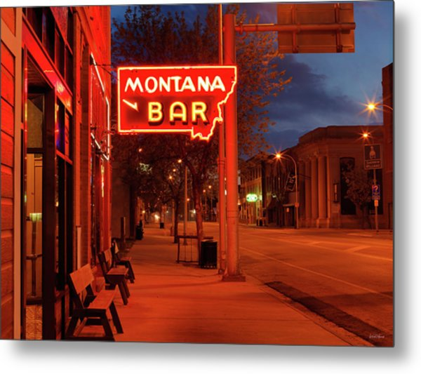 Historical Montana Bar Metal Print