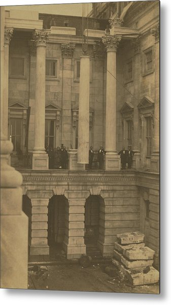 Hoisting Final Marble Column At United States Capitol Metal Print