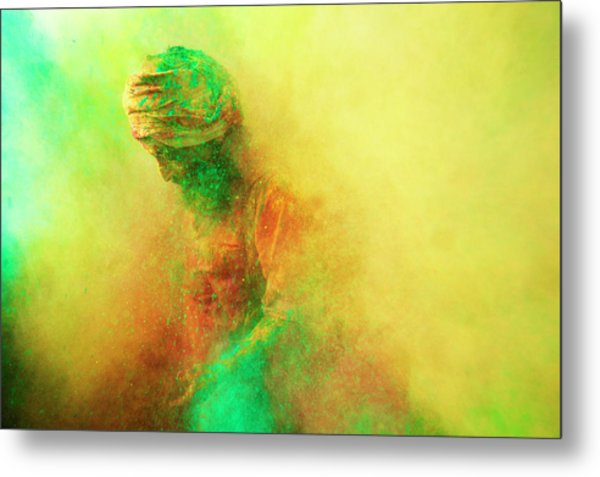 Holi, Festival Of Colors, India Metal Print by Poras Chaudhary