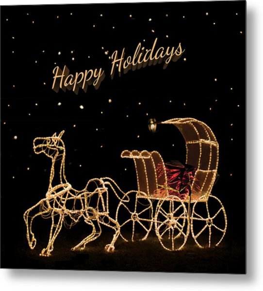 Holiday Carriage Metal Print