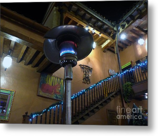 Metal Print featuring the photograph Holiday Dining In Patzcuaro by Rosanne Licciardi
