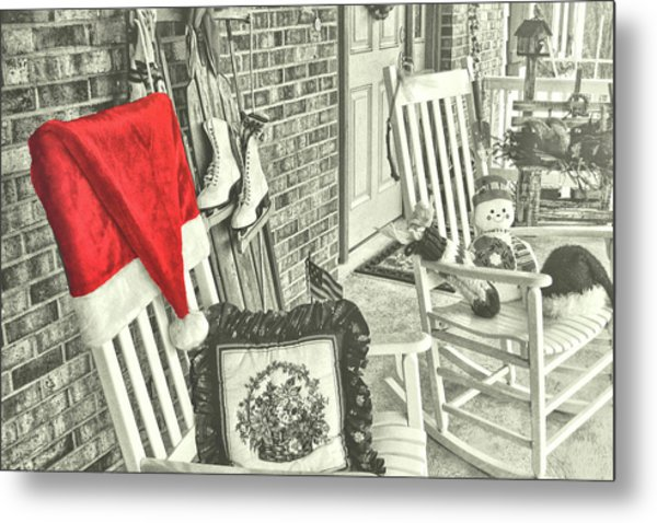 Holiday Porch Metal Print by JAMART Photography