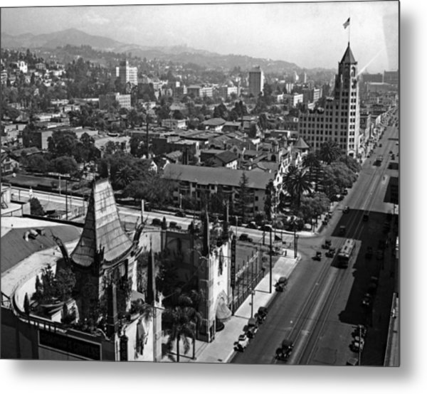Hollywood Boulevard Metal Print by Keystone