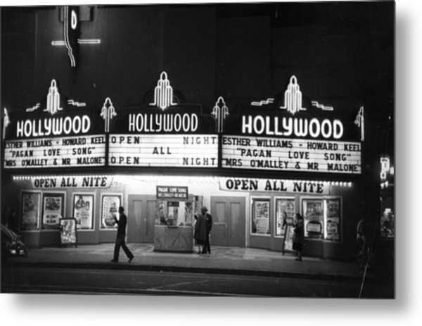Hollywood Cinema Metal Print
