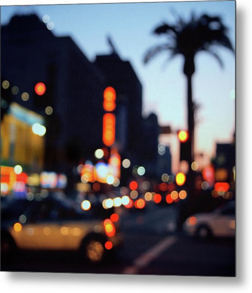 Hollywood Glitz Metal Print