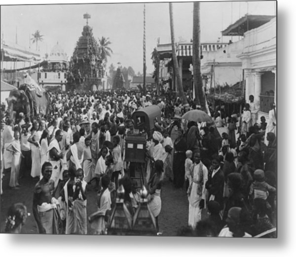 Holy Car Procession Metal Print by Hulton Archive