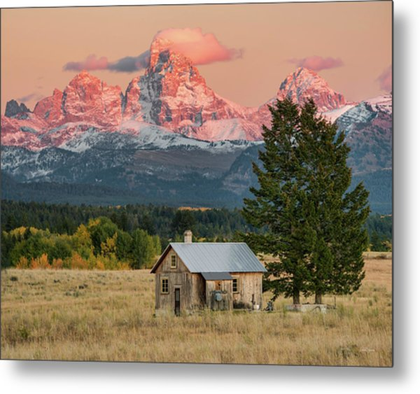 Home Under The Mountain Metal Print
