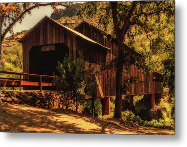 Honey Run Covered Bridge Metal Print