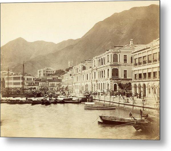 Hong Kong Harbour Metal Print by John Thomson
