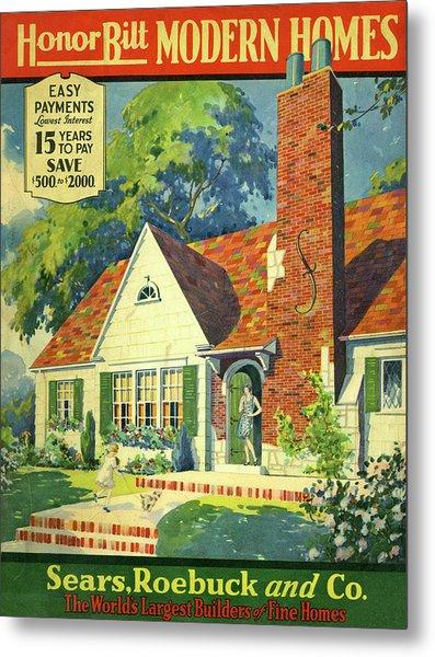 Honor Bilt Modern Homes Sears Roebuck And Co 1930 Metal Print