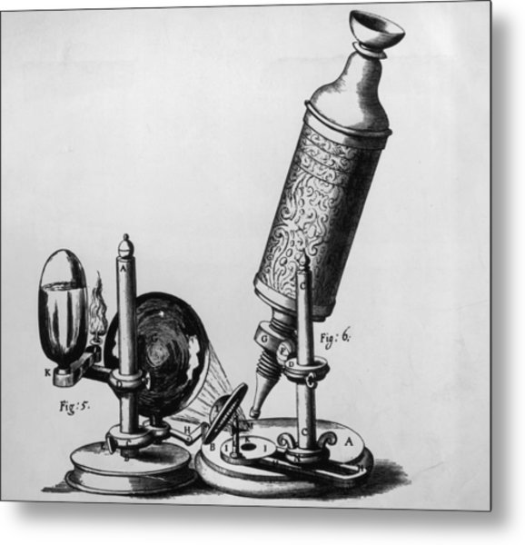Hookes Microscope Metal Print by Hulton Archive