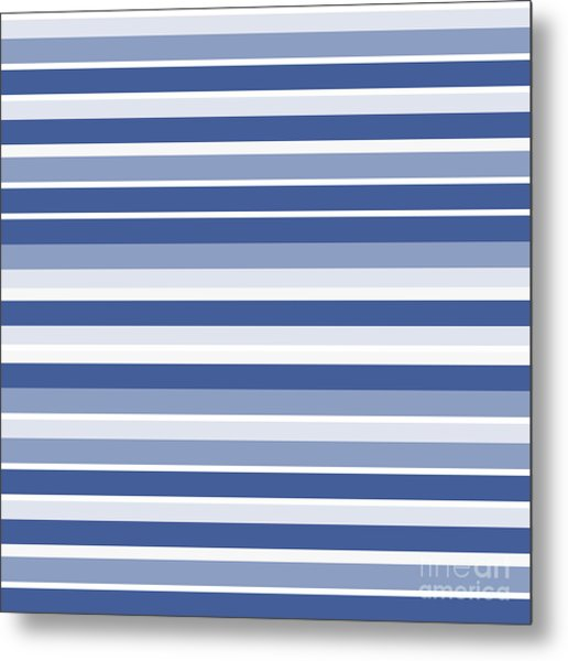 Horizontal Lines Background - Dde607 Metal Print