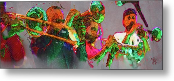 Horn Section Metal Print