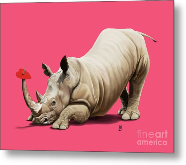 Metal Print featuring the digital art Horny Colour by Rob Snow