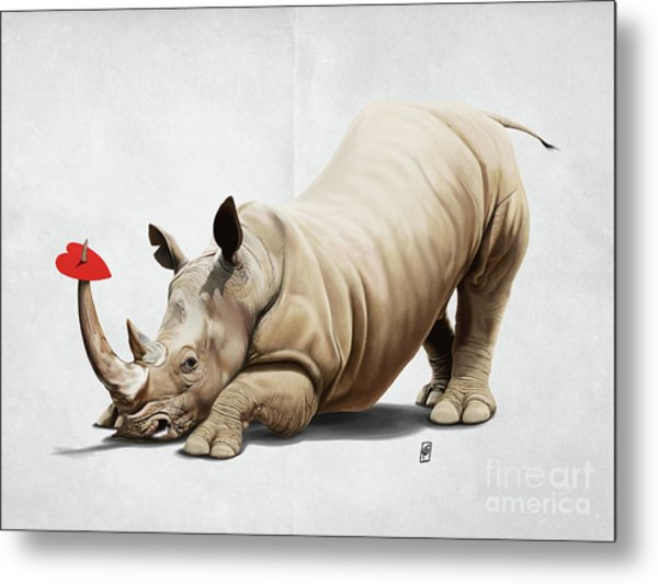 Metal Print featuring the digital art Horny Wordless by Rob Snow