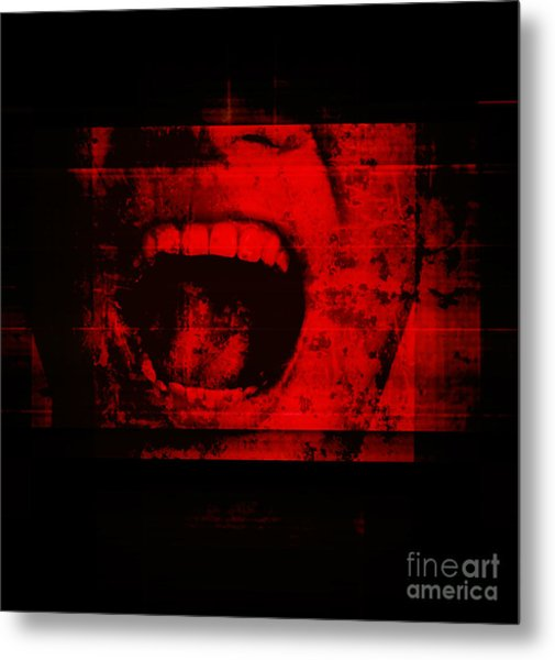 Horror Background For Movies Poster Metal Print