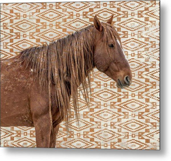 Horse Blanket Metal Print