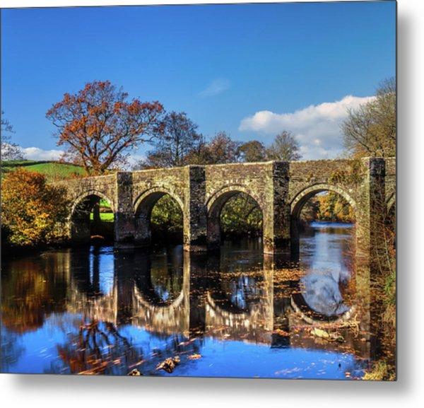 Horsebridge, River Tamar Metal Print