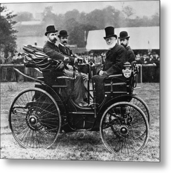 Horseless Vehicle Metal Print by Hulton Archive