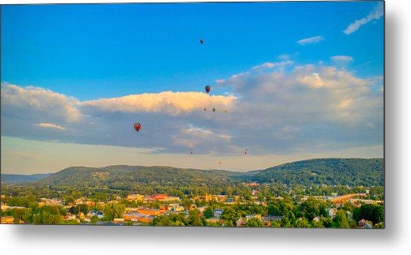 Hot Air Ballon Cluster Metal Print