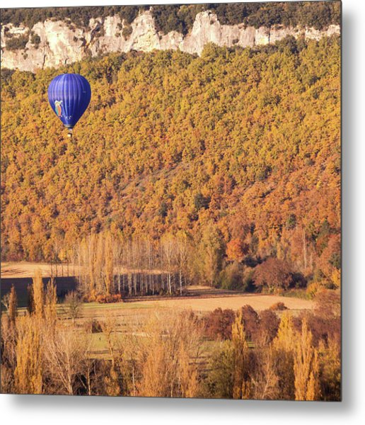 Hot Air Balloon, Beynac, France Metal Print