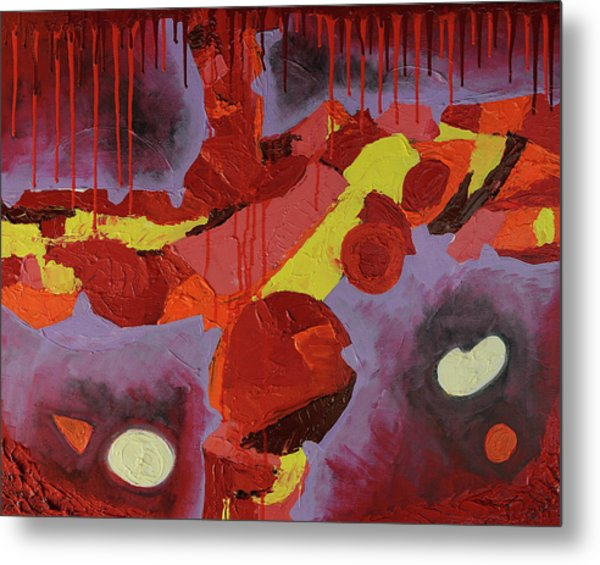 Hot Red Metal Print