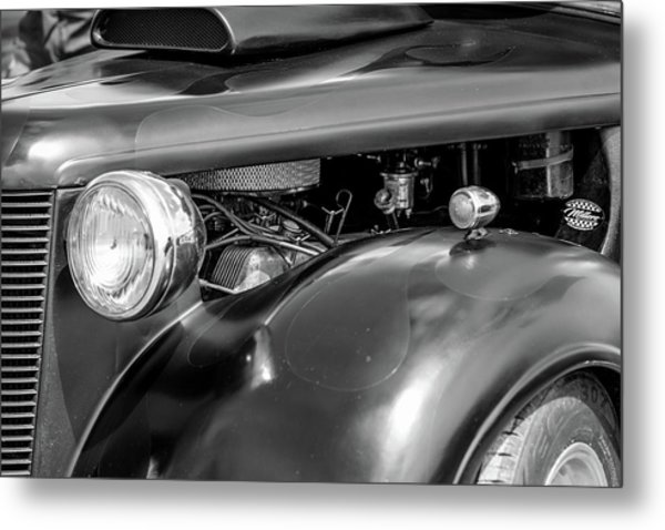 Metal Print featuring the photograph Hot Rod Engine by Elliott Coleman