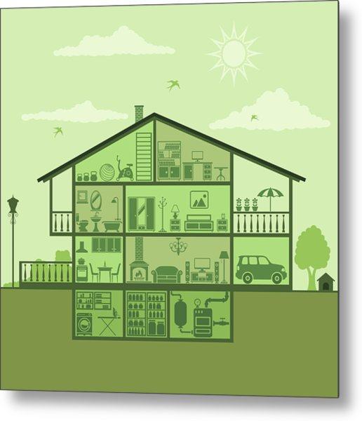 House Interior Metal Print by Alonzodesign