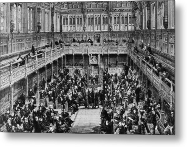 House Of Commons Interior Metal Print by Hulton Archive