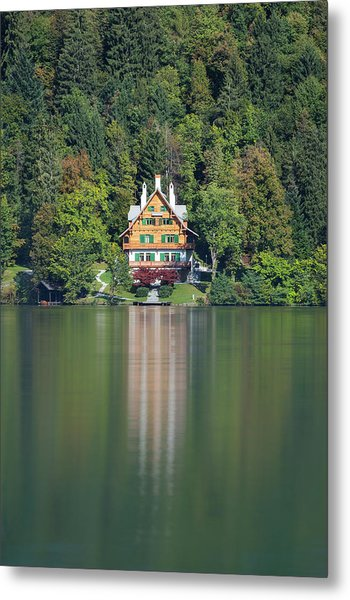 House On The Lake Metal Print