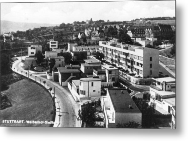 Housing Project Metal Print by Joan Woollcombe Collection