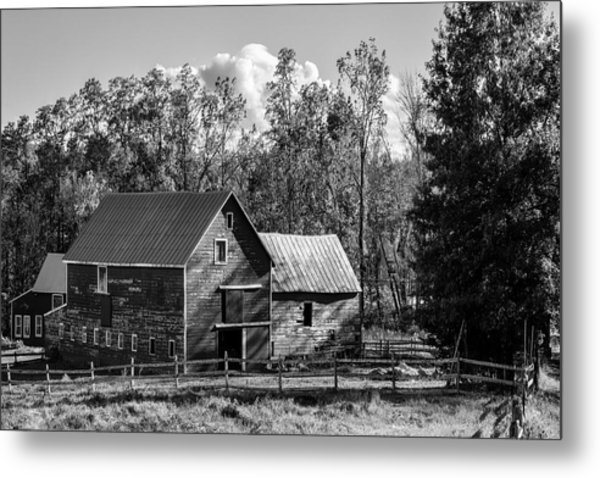 Hudson Valley Ny Countryside Bw Metal Print