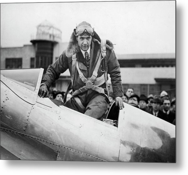 Hughes Boards His Plane Metal Print by Time Life Pictures