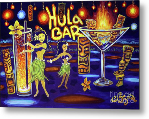 Hula Bar Metal Print