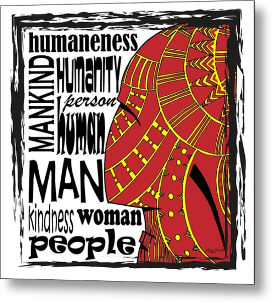 Human Being Metal Print