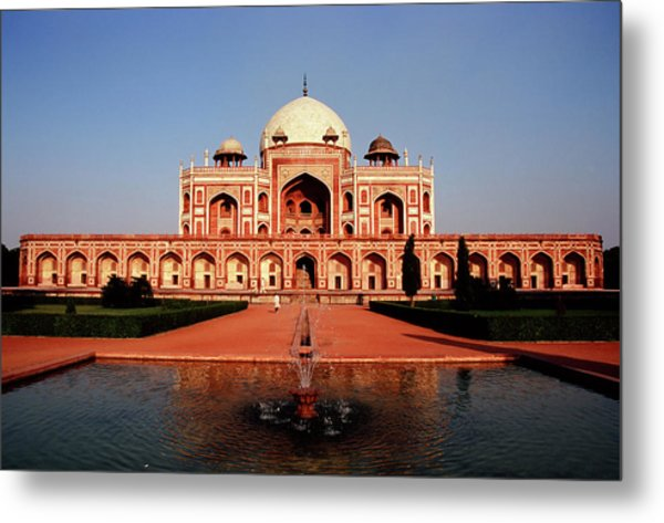 Humayuns Tomb, Delhi Metal Print by Kelly Cheng Travel Photography