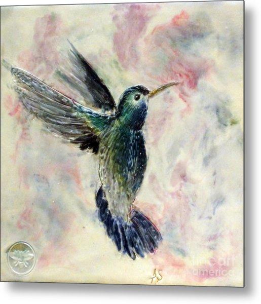 Hummingbird Flight Metal Print