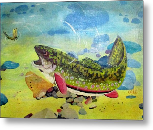 Hungry Trout Metal Print