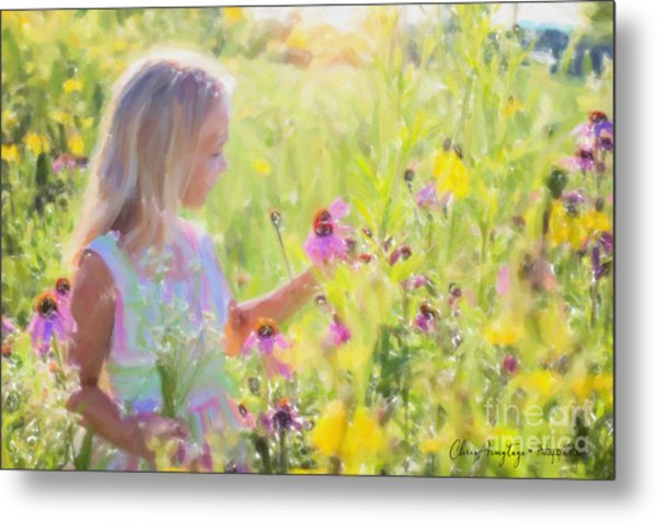I Would Pick More Daisies ... Metal Print