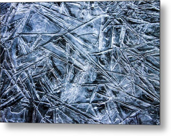 Metal Print featuring the photograph Ice Crystals by Dawn Richards
